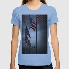 A Storm is Brewing Womens Fitted Tee Athletic Blue SMALL