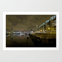 Glasgow Squinty Bridge River Clyde Art Print