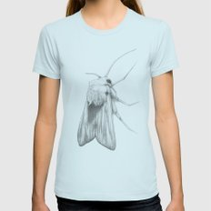 Moth  Womens Fitted Tee Light Blue SMALL