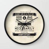 Good Things & Bad Things Wall Clock