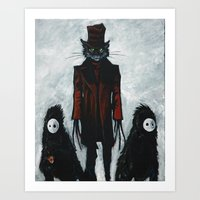 the cat in the hat Art Print