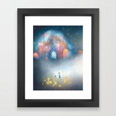 A Field of Fireflies Framed Art Print