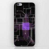 Circuit Board Purple iPhone & iPod Skin