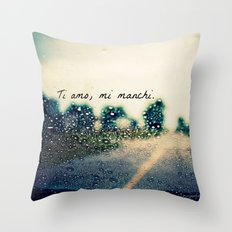 i love you, i miss you.  Throw Pillow