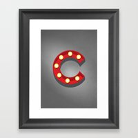 C - Theatre Marquee Lett… Framed Art Print
