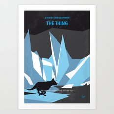 No466 My The Thing minimal movie poster Art Print