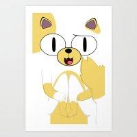 CAKE THE CAT Art Print