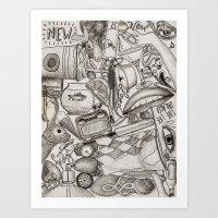 Kerbobbled Art Print