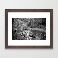 Waterfall Glen Framed Art Print