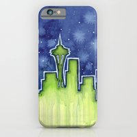 iPhone & iPod Case featuring Seattle  by Olechka