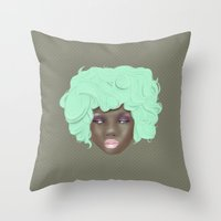 Emogirl Earth Throw Pillow