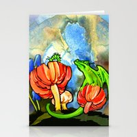 The Dragon and the Caterpillar Stationery Cards