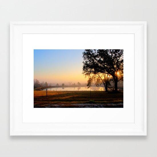 South Georgia Sunrise 2 Framed Art Print