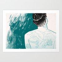 Tattooed skin. Art Print