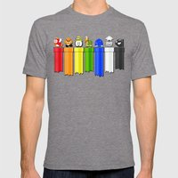 Drainbow Mens Fitted Tee Tri-Grey SMALL