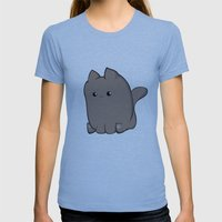 Cube Cat Womens Fitted Tee Athletic Blue SMALL