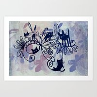 Happy Kittens Art Print