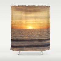 California Sunset Over Ocean Shower Curtain