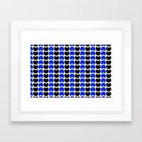 HobNob BlueBlack Print, Canvas and Laptop/iPad Skin Framed Art Print