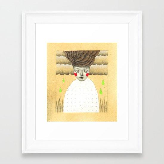 Green Rain Framed Art Print