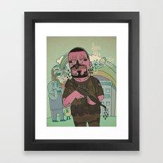fuc le police 2 Framed Art Print