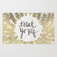 Treat Yo Self – Gold Rug
