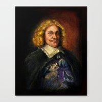 Portrait Of A Sweet Dude… Canvas Print