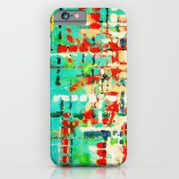 on my street -turquoise abstract iPhone 6 Slim Case