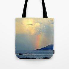 Storm Drops A Rainbow On… Tote Bag