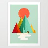 Little Geometric Tipi Art Print