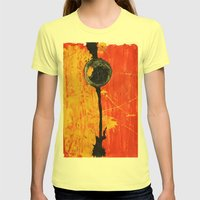 Circles 4 Womens Fitted Tee Lemon SMALL