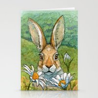 Funny bunnies - with Chamomiles 889 Stationery Cards