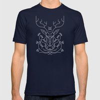 Reindeer Mens Fitted Tee Navy SMALL