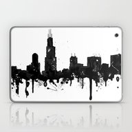 Watercolor Chicago Skyli… Laptop & iPad Skin