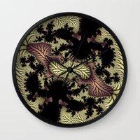 Leaf Fractal Wall Clock