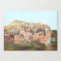Colorful Houses Canvas Print