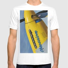 P51 Obsession White Mens Fitted Tee SMALL