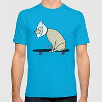 Cone Of Shame Won't Stop… Mens Fitted Tee Teal SMALL