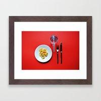 Primary Colours : Breakfast Framed Art Print