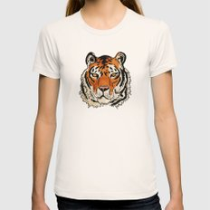 Tiger Womens Fitted Tee Natural SMALL