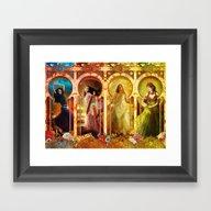Joy Faith Hope And Love Framed Art Print