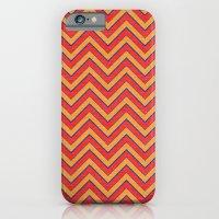 iPhone & iPod Case featuring Chevron - Blue|Orange|Red by Michael Ziegenhagen