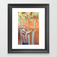 Saxofonist Framed Art Print