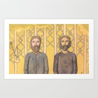 Bearded Men Art Print