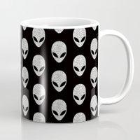 Glitter Grey Aliens Mug