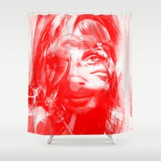 Sharon Mix 12 red Shower Curtain