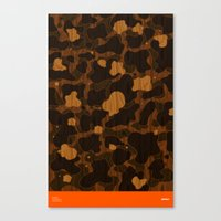 Modern Woodgrain Camouflage / Duck Print Canvas Print