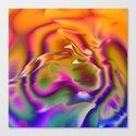 colored music orange Canvas Print