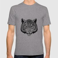 Tiger B&W Mens Fitted Tee Athletic Grey SMALL