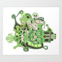 Reptilian Retina Art Print